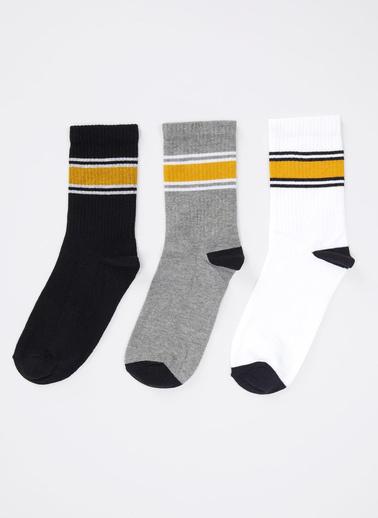 Defacto –Fit Desenli Uzun Soket Çorap 3'lü Renkli